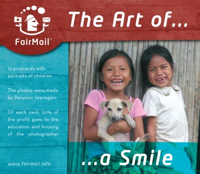 Fair Trade Photo Greeting Card Happiness, Joy, Portraits, Smile, Youth