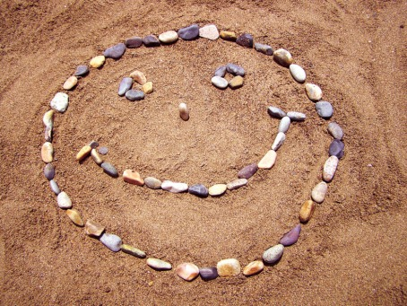 Fair Trade Photo Greeting Card Artistique, Beach, Colour image, Emotions, Friendship, Happiness, Horizontal, Joy, Peru, Sand, Seasons, Smile, Smiling, South America, Stone, Summer, Thinking of you