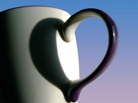 Fair Trade Photo Greeting Card Artistic, Artistique, Asia, Colour image, Cup, Heart, Horizontal, India, Love, Shadow, White