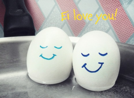 Fair Trade Photo Greeting Card Artistique, Asia, Colour image, Easter, Egg, Food and alimentation, Friendship, Funny, Horizontal, India, Kitchen, Love, Smile, Together
