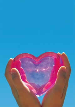 Fair Trade Photo Greeting Card Blue, Closeup, Hand, Heart, Horizontal, Love, Mothers day, Peru, Pink, Sky, South America, Summer, Valentines day