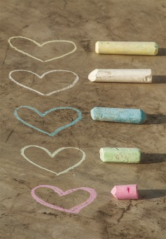 Fair Trade Photo Greeting Card Asia, Chalk, Colour image, Heart, India, Love, Marriage, Valentines day, Vertical, Wedding