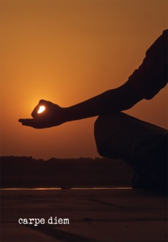 Fair Trade Photo Greeting Card 10-15_years, Activity, Asia, Asian, Backlit, Colour image, Evening, Horizontal, India, Meditating, One boy, Outdoor, People, Silhouette, Spirituality, Sunset, Yoga