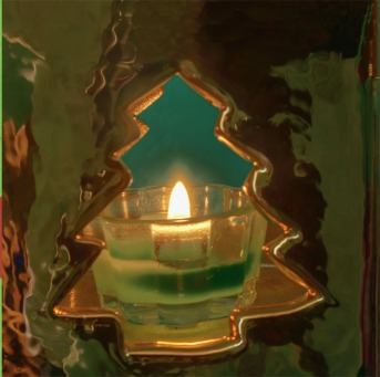 Fair Trade Photo Greeting Card Candle, Christmas, Closeup, Colour image, Flame, Horizontal, Peru, Shooting style, South America, Tree