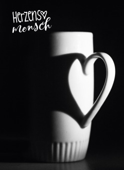 Fair Trade Photo Greeting Card Black and white, Cup, Heart, Horizontal, Love, Peru, Shooting style, South America, Valentines day