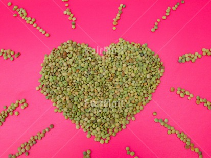 Fair Trade Photo Colour image, Food and alimentation, Heart, Horizontal, Lentils, Love, Peru, South America, Valentines day