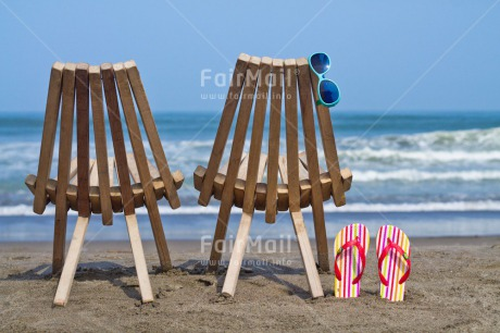 Fair Trade Photo Beach, Chair, Colour image, Holiday, Horizontal, Love, Marriage, Relax, Together, Travel, Wedding