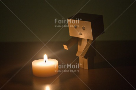 Fair Trade Photo Candle, Colour image, Condolence/Sympathy, Danboard, Fire, Flame, Horizontal, Seasons, Warmth, Winter