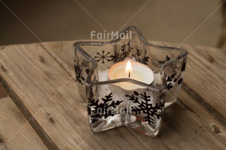 Fair Trade Photo Candle, Christmas, Colour image, Flame, Horizontal, Peru, South America, Star