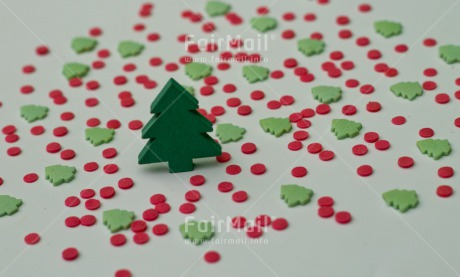 Fair Trade Photo Christmas, Colour image, Green, Horizontal, Peru, Red, South America, Sweets, Tree, White
