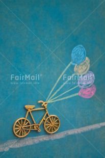 Fair Trade Photo Activity, Balloon, Bicycle, Blue, Chalk, Colour image, Emotions, Happiness, Holiday, Moving, Multi-coloured, Peru, Seasons, South America, Summer, Transport, Travelling, Vertical