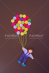 Fair Trade Photo Activity, Balloon, Boy, Button, Celebrating, Colour image, Colourful, Emotions, Flying, Good luck, Happiness, Indoor, People, Peru, South America, Toy, Travel, Vertical