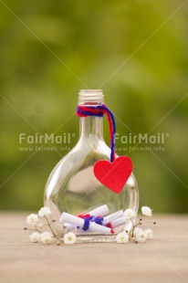 Fair Trade Photo Blue, Colour image, Fathers day, Glass, Green, Heart, Letter, Love, Message, Mothers day, Nature, Peru, Red, South America, Table, Valentines day, Vertical