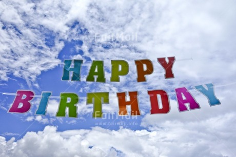 Fair Trade Photo Birthday, Clouds, Colour image, Day, Horizontal, Letter, Multi-coloured, Outdoor, Peru, Sky, South America