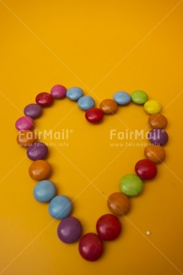 Fair Trade Photo Birthday, Colour image, Food and alimentation, Fruits, Heart, Indoor, Love, Mothers day, Multi-coloured, Orange, Peru, South America, Studio, Sweets, Vertical