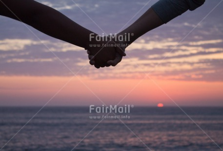Fair Trade Photo Clouds, Colour image, Couple, Evening, Friendship, Hand, Horizontal, Love, Outdoor, Peru, Scenic, Sea, South America, Sunset, Together, Travel, Valentines day, Water