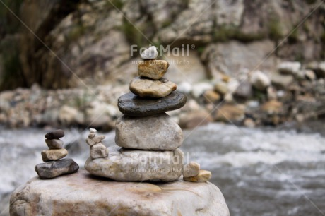 Fair Trade Photo Balance, Colour image, Horizontal, Peru, River, South America, Stone, Water, Wellness