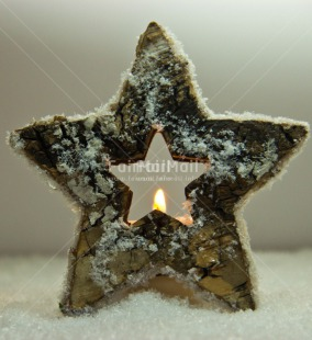 Fair Trade Photo Candle, Christmas, Colour image, Flame, Peru, South America, Star, Vertical