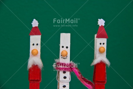 Fair Trade Photo Christmas, Colour image, Horizontal, Peru, Santaclaus, Snowman, South America