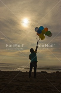 Fair Trade Photo Balloon, Colour image, Emotions, Happiness, Peru, Shooting style, Silhouette, South America, Sunset, Vertical