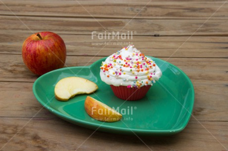 Fair Trade Photo Apple, Birthday, Colour image, Cupcake, Food and alimentation, Fruits, Health, Horizontal, Mothers day, Party, Peru, South America