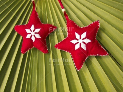 Fair Trade Photo Christmas, Colour image, Focus on foreground, Fullframe, Green, Horizontal, Outdoor, Peru, Red, South America, Star, Tabletop