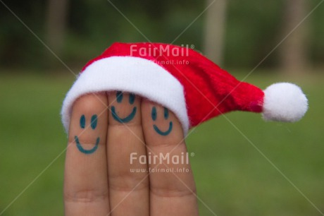 Fair Trade Photo Christmas, Closeup, Colour image, Funny, Hand, Hat, Horizontal, Peru, Shooting style, Smile, South America