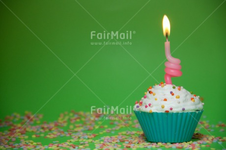 Fair Trade Photo Birthday, Candle, Closeup, Colour image, Cupcake, Flame, Horizontal, Invitation, Party, Peru, Shooting style, South America, Sweets