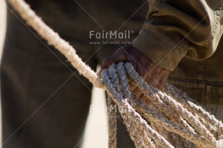 Fair Trade Photo Agriculture, Closeup, Colour image, Farmer, Hand, Horizontal, Market, Peru, Rope, Rural, Shooting style, South America