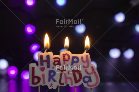 Fair Trade Photo Birthday, Candle, Colour image, Flame, Horizontal, Letter, Light, Peru, South America