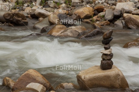 Fair Trade Photo Balance, Colour image, Horizontal, Nature, Outdoor, Peace, Peru, River, South America, Stone, Success, Water, Yoga