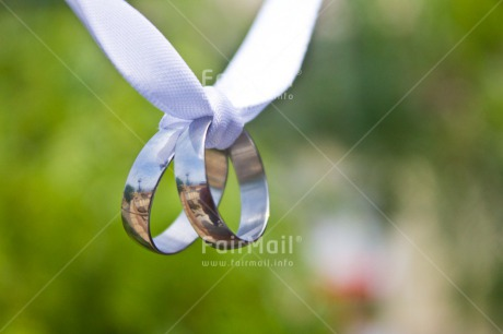 Fair Trade Photo Colour image, Green, Hanging, Horizontal, Love, Marriage, Nature, Outdoor, Peru, Ring, Silver, South America, Two, Wedding, White