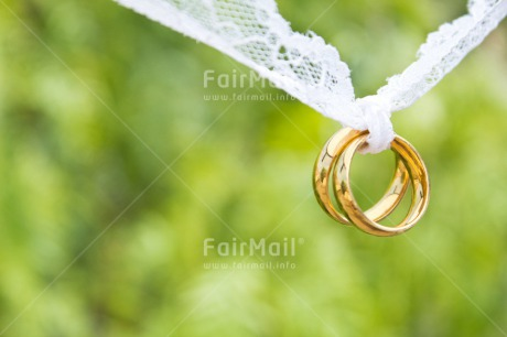 Fair Trade Photo Colour image, Gold, Green, Hanging, Horizontal, Love, Marriage, Nature, Outdoor, Peru, Ring, South America, Two, Wedding, White
