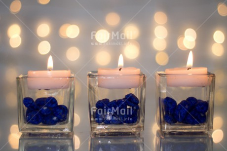 Fair Trade Photo Blue, Candle, Christianity, Colour image, Communion, Condolence/Sympathy, Confirmation, Flame, Glass, Horizontal, Light, Peace, Peru, Religion, South America, Stone