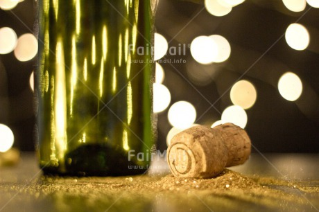 Fair Trade Photo Bottle, Colour image, Cork, Horizontal, Light, New Year, Night, Peru, South America