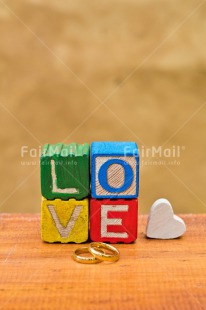 Fair Trade Photo Colour image, Colourful, Gold, Heart, Letter, Love, Marriage, Peru, Ring, South America, Thinking of you, Valentines day, Vertical, Wedding, White, Wood