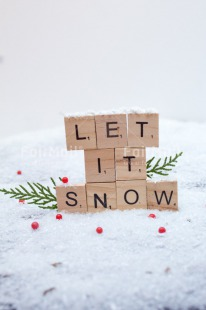 Fair Trade Photo Adjective, Christmas, Christmas decoration, Colour, Colour image, Horizontal, Letter, Object, Place, Snow, South America, Text, White