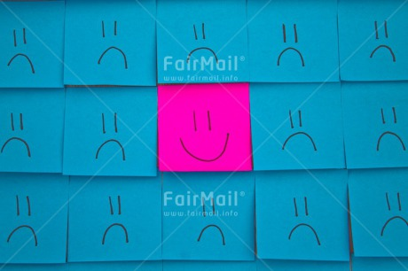 Fair Trade Photo Blue, Business, Colour image, Colourful, Different, Emotions, Exams, Face, Happiness, Indoor, Message, New Job, Office, Paper, Peru, Pink, Smile, Smiling, South America, Studio