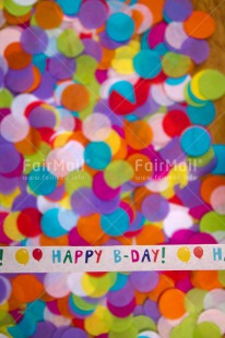 Fair Trade Photo Activity, Birthday, Celebrating, Colour image, Colourful, Confetti, Indoor, Letters, Multi-coloured, Peru, South America, Text, Vertical