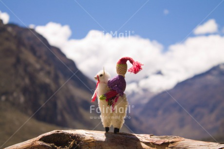 Fair Trade Photo Activity, Animals, Colour image, Day, Horizontal, Llama, Mountain, Nature, Outdoor, Peru, South America, Toy, Travel, Travelling