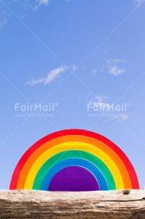 Fair Trade Photo Baptism, Blue, Colour image, Colourful, Day, Emotions, Good luck, Happiness, Love, Multi-coloured, Outdoor, Peace, Peru, Rainbow, Sky, South America, Vertical