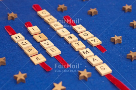 Fair Trade Photo Adjective, Blue, Christmas, Christmas decoration, Colour, Colour image, Horizontal, Letter, Object, Place, South America, Star, Text