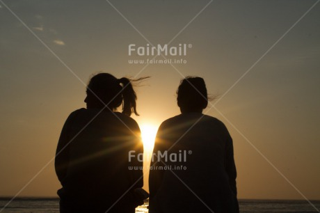 Fair Trade Photo Beach, Evening, Friendship, Horizontal, Outdoor, Peru, South America, Sunset, Two people