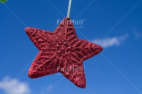 Fair Trade Photo Blue, Christmas, Clouds, Colour image, Horizontal, Peru, Red, Sky, South America, Star