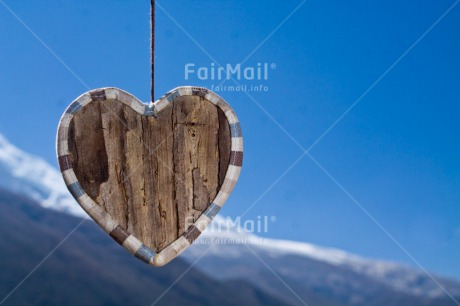 Fair Trade Photo Colour image, Heart, Horizontal, Love, Marriage, Peru, Sky, South America, Summer, Valentines day, Wood