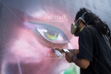 Fair Trade Photo Activity, Artistique, Colour image, Day, Graffity, Horizontal, Outdoor, Painting, Streetlife