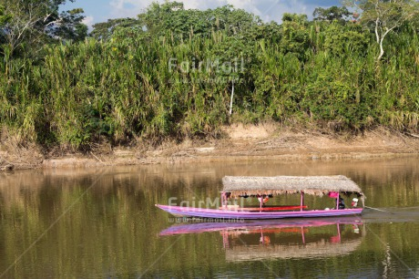 Fair Trade Photo Boat, Colour image, Horizontal, River, Rural, Transport, Travel