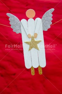 Fair Trade Photo Angel, Christmas, Colour image, Gold, Peru, Red, Silver, South America, Star, Vertical