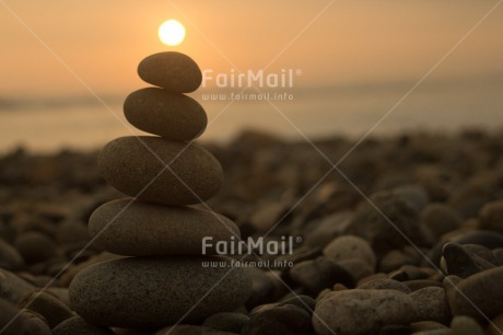 Fair Trade Photo Balance, Beach, Colour image, Condolence/Sympathy, Horizontal, Peru, Sea, South America, Spirituality, Stone, Sunset, Wellness