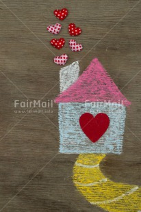Fair Trade Photo Heart, House, Love, New home